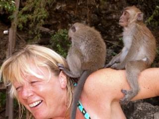 Jen and monkeys